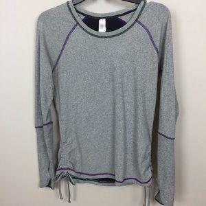 LUCY Tech Dashing Stripe Running Shirt M